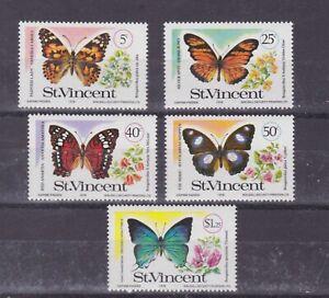 br.vincent 1978 Sc 523/7 butterfly,set      q1412