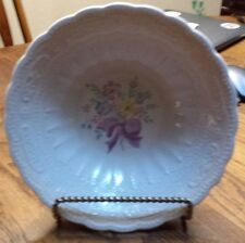 Edwin M. Knowles China Fashion Shape Floral Scalloped Serving Bowl 35-4 Purple