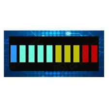 2x Sehr helle LED-Balkenanzeige grün/gelb/rot 10 Segment LED-Bargraph A6H7