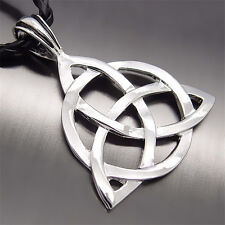 "Men's Celtic Knot Triquetra Trinity Pewter Pendant with 20"" Choker Free Necklace"