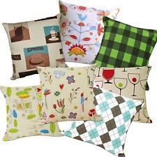 Pillow Cover*Modern Cotton Canvas Sofa Seat Pad Cushion Case Custom Size*AL5