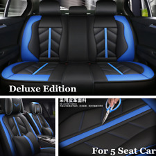 Standard Luxury Leather 5-Seat Car Seat Cushion Cover For Interior Accessories