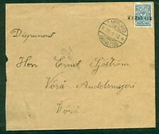FINLAND 1912, Village cancel TRASKVIK ties 20p on cover, VF