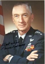 BRUCE HOLLOWAY: Deceased Fighter Ace: SAC Commander: Photo Autographed