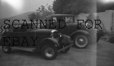 1939 Old Cars Roadster Peugeot ORIGINAL PHOTO NEGATIVE