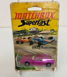 Vintage Matchbox Superfast 5 Lotus Europa Die-Cast Scale Model Car 1972  ( Sto)
