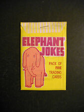 1960 ELEPHANT JOKES UNOPENED CARD PACK  L.M. BECKER  *VERY RARE PACK*