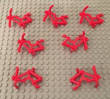 Lego X7 New Red Bicycle Riding Cycle Frames City Creator Part ~No Wheels,Tires~