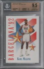 BGS 9.5 KARL MALONE 1991-92 SKYBOX OLYMPIC USA DREAM TEAM #535 JAZZ GEM MINT HOF
