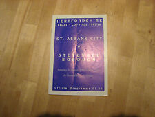St Albans City v Stevenage Borough 1996 Hertfordshire Charity Cup Final