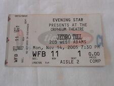 Jethro Tull concert ticket stub Nov 14th, 2005 free shipping