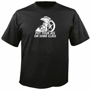 PUT YOUR ASS ON SOME CLASS, BAGGER T-SHIRT biker street touring glide harley flh