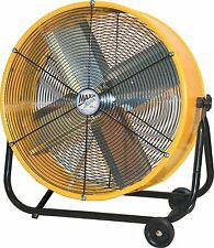 Industrial Shop Fan Portable High Power Rolling Tilt Floor Garage Ventilation