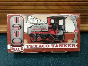 Texaco- 1910 Mack Tanker 12 in the series  Die-cast Bank Highly Detailed w/Key