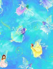 2.5 Yards Timeless Treasures Chong-a Hwang Digitally Printed Fantasy Fairies Fab