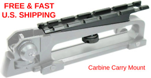 RIFLE CARRY Handle Rail Mount For Scope and Red Dot Sight 6 Slot CO-WITNESS