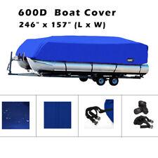 "17 18 19 20"" Heavy Duty Fabric 600D Waterproof Trailerable Pontoon Boat Cover"
