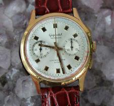 Gigandet Chronograph 18kt 750 Gelbgold Valjoux 7733 Vintage Herrenuhr 38 mm