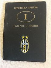 ASTUCCIO PORTA PATENTE GUIDA JUVENTUS F.C. CALCIO CON STEMMA ANNI '70