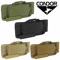 """Condor 150 Tactical MOLLE PALS Modular Pistol Compartment 28"""" Padded Rifle Case"""
