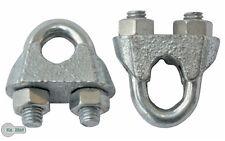 10 Seilklemme Klemme Drahtseilklemme  verzinkt 6 mm