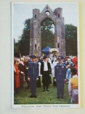 Walsingham Abbey Marian Year Crowning 1954 Real Photograph Postcard
