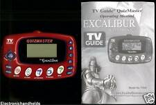 EXCALIBUR TV GUIDE MASTER ELECTRONIC HANDHELD LCD GAME