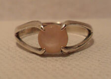 Vintage Antique Estate~Pink Mother of Pearl Sterling Silver Ring Size 6.25