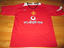 """MANCHESTER UNITED """"VODAFONE"""" Soccer Embroidered (Size 42) Polo Shirt"""