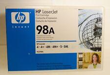 New HP 98A Black Original LaserJet Toner Cartridge (92298A)
