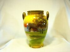 Vintage Nippon Hand Painted Porcelain Vase