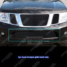 Fits 2008-2012 Nissan Pathfinder Bumper Black Billet Grille Grill Insert