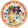 Personalised  Princess & super hero  50mm  Party Thank You Seals 30 Stickers