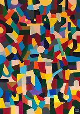 """Nuevo Excelente periferia vilke Original """"reina"""" Lituania Pintura Abstracta Folk Art"""
