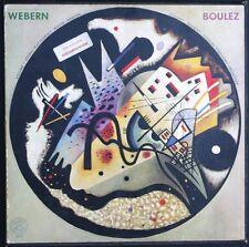 PIERRE BOULEZ WEBERN Musique concrète RARE Coffret de 4 33T LP Vinyles NEUFS