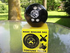 VINTAGE 1940'S ALABE LUCKY STRIKE MAGIC BOWLING BALL FORTUNE TELLER