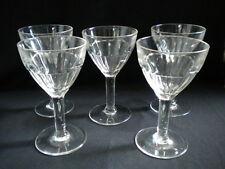5 verres anciens de bistrot