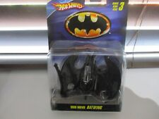 HOTWHEELS RARE BATMAN BATWING FROM 2009 SMALL CREASE TOP RIGHT HAND CORNER `