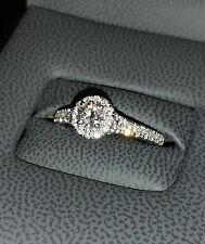 Tolkowsky Engagement Ring sz 7 14K White Gold .71 Ct Diamond w/ GSI Authenticity