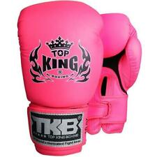"TOP KING ""DOUBLE LOCK"" AIR MUAY THAI BOXING GLOVES - TKBGDL - PINK NEON"