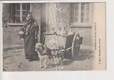 Oude Postkaart CPA Antwerpen Vlaamse Hondenkar met Melkmeisje G.Hermans