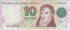 Argentina Banknote P342b-781E Col 744a 10 Pesos Convertibles Sig Pou-Pierri, VF+