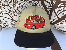 🔥Vintage Snap Back KC 90's FORD MUSTANG GT Convertible Brown Trucker Cap Hat🔥