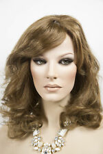 Light Gold Reddish Brown Brunette Long Human Hair Monofilament Hand Tied Wigs