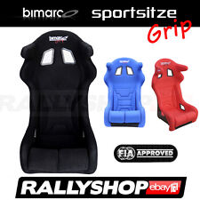 FIA BIMARCO GRIP Sportsitz  Schwarz Rot Blau Rally Sitze Kopfschutz Glasfaser