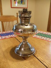 "Vintage Antique Rayo Oil Lamp Silver Metal 12"" - Patent Nov. 20 1894"