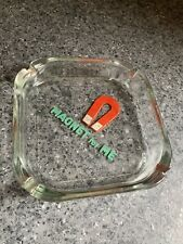Vintage Glass Ashtray With Beer Logo