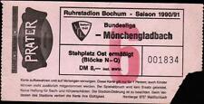 Ticket BL 90/91 VfL Bochum - Borussia Mönchengladbach