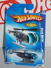 Hot Wheels 2009 HW City Works #107 Killer Copter Chrome w/ Blue Windows