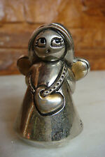 Old Rare Protection For Kids Angel Colection Silvered Figure Statue Sign Arde